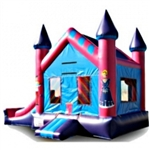 Commercial Grade Inflatable Princess Mini 2in1 Combo Bouncy House
