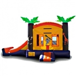 Commercial Grade Inflatable Tropical Mini 2in1 Combo Bouncy House