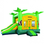 Commercial Grade Inflatable Jungle Slide 2in1 Combo Bouncy House