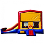 Commercial Grade Inflatable Deluxe Module Slide 2in1 Combo Bouncy House