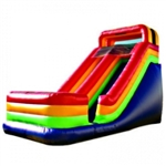 Commercial Grade Inflatable Rainbow Dry Slide