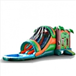 Commercial Grade Inflatable Tropical Water Combo Bouncy House