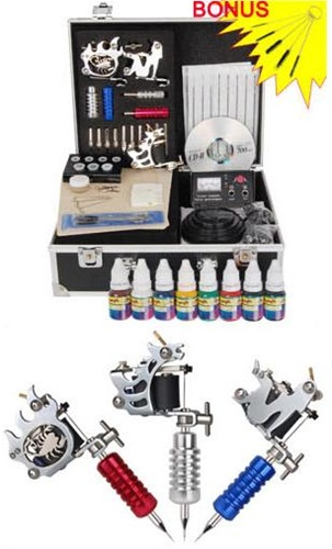 High Quality Professional Witch 3 Guns Tattoo Machine Kit Pirate face tattoo kits are an excellent starting point for new tattoo artists and great for professionals on the go. saferwholesale ca