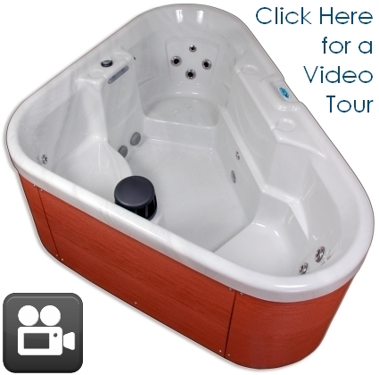 Corner Unit Plug Amp Play 3 Person Hot Tub Spa With 12 Jets