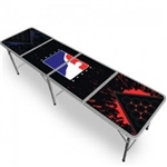 High Quality 8ft Black Splash World Series of Beer Pong Table