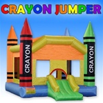 Crayon Bouncer Bouncy House with Blower