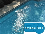 Complete 20x40 Keyhole 2R In Ground Swimming Pool Kit with Polymer Supports