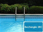 Complete 16'x36' Rectangle 2RC InGround Swimming Pool Kit with Steel Supports