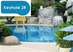 Complete 18x36 Keyhole 2R InGround Swimming Pool Kit with Wood Supports