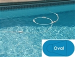 Complete 18'x36' Oval InGround Swimming Pool Kit with Steel Supports