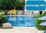 Complete 20'x40' Rectangle 4RC InGround Swimming Pool Kit with Steel Supports