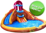 Huge 17' x 17' Inflatable Water Slide with Splash Pool