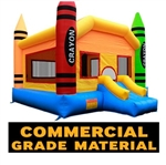 Commercial Grade Crayon Inflatable Bouncer Bouncy House