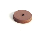 Square Edged Rubberized Polishing Wheels 5/8 X 1/8 Hi-Shine Pink (5)