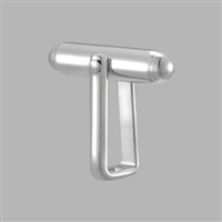 Sterling Silver Torpedo Cuff Link Backs - Pair