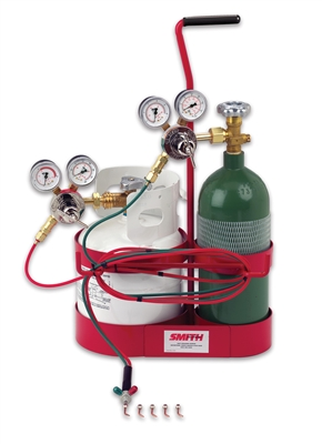 Little Torch Caddy Kit with with Oxygen and Propane Tanks