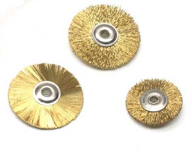 "1"" x 1/8"" Crimped Brass Wheel Brush - Dozen"