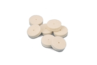 Felt Wheel Square Edge Mini Soft  3/4 x 1/8 Inch (25)