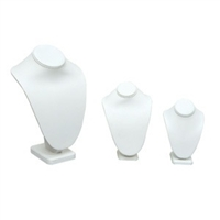 Standing White Leatherette Display Busts