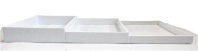 White Stackable Tray 1 Inch