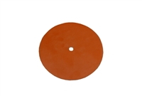 "Red Silicon Pad, 7"" Diameter, 1/2"" Hole for vacuum machine"