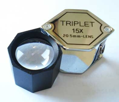 LOUPE 15X  20.1 MM HEX TRIPLET