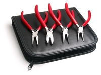 Plier Set of 4 - Flat, Round, Chain and Diagonal Cutters