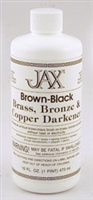 Jax Brown- Black Darkener works on Copper, Brass, Bronze - Pint