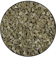 Brown Ceramilite Tumbling Media Pyramids Medium Cut 1 Pound
