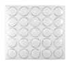 White Gem Jars 1.5 Inch (25)  in Foam Pad