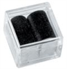 Gem Jars Square with Foam Slot Insert Black (50)