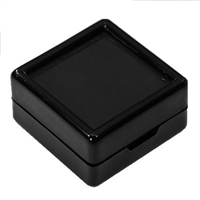 Square Acrylic Gem Jars Black (50 Pcs)  1.5 x 1.5 Inches