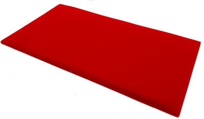 Velvet Pad Red 14 x 7.5 Inches