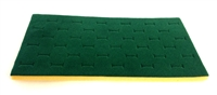 Foam Pad Horizontal Emerald 36 Rings 14 x 7.5 Inches