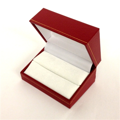 Double Ring Box in Red 2.9 x 2 x 1.5 ""