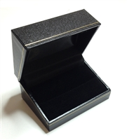 Double Ring Box in Black 2-7/8 x 2 x 1-1/2""