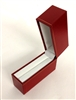 Bangle Box in Red leatherette 1.25 x 3.75 x 3.15""