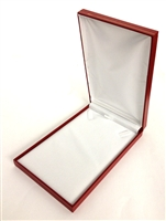 Large Necklace Box in Red 4.75 x 7.4 x 1.25 ""