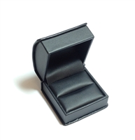 Black Leatherette Ring Box