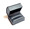 Black Leatherette Double Ring Box