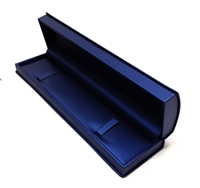 Bracelet box Navy Blue Leatherette with White Ribbon Outer Box