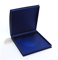 Navy Blue Leatherette Necklace Box