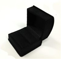 RING SLOT SUEDE 1651R/BK BLACK