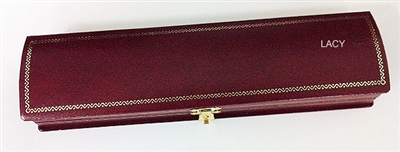 Bracelet Roll Top Box Burgundy with White Inside