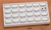 EARRING TRAY 24 SLOT LARGE WHITE