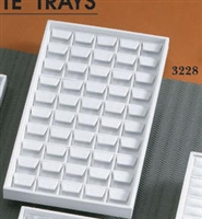 EARRING TRAY 50-PAIR LARGE WHITE