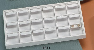 EARRING TRAY 18 DROP LARGE WHITE