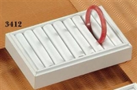 Tray Bangle 8-Slot Small 3412 White Leatherette