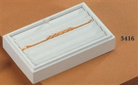 Tray Bracelet 6-Slot Small 3416 White Leatherette