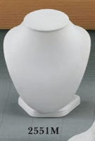 Neck Display 2551M Medium White Leatherette